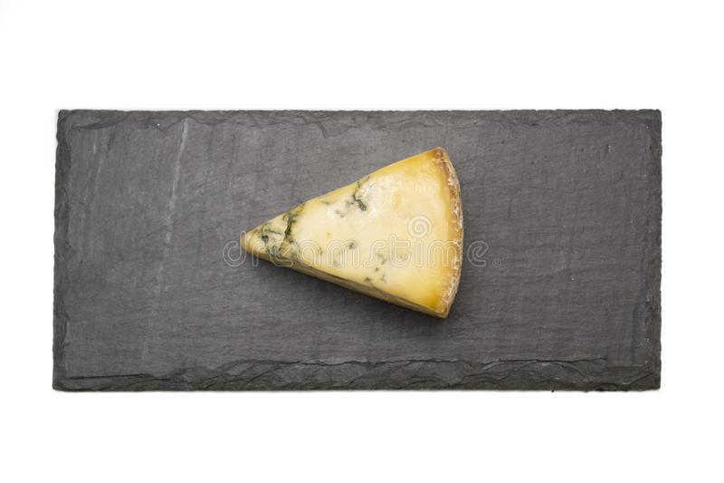 在板岩板的乳酪 免版税库存图片