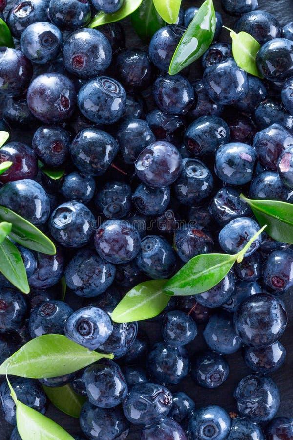 在板岩桌上的蓝莓 图库摄影
