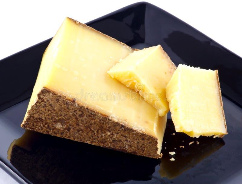 在板材的乳酪 库存图片