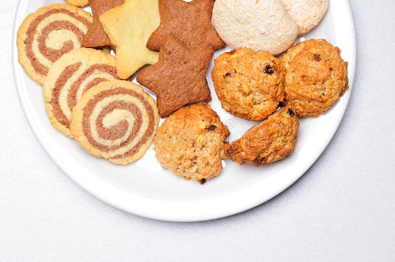新近地被烘烤的曲奇饼 免版税库存图片