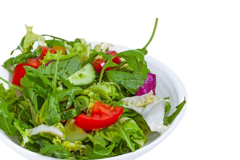 在板材的新鲜蔬菜沙拉 图库摄影