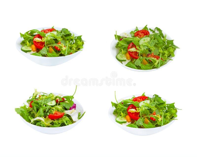 在板材的新鲜蔬菜沙拉 免版税图库摄影