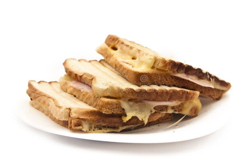在板材的鲜美tosts 库存照片