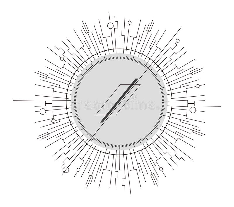 在构成主义样式的抽象设计元素 Minimalistic抽象标志 向量例证