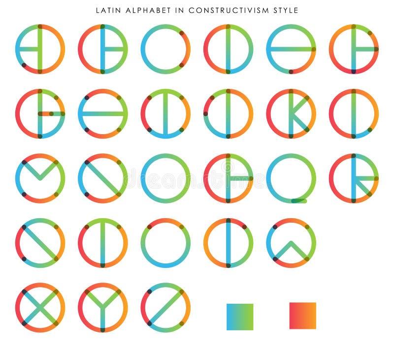 在构成主义的拉丁字母 皇族释放例证
