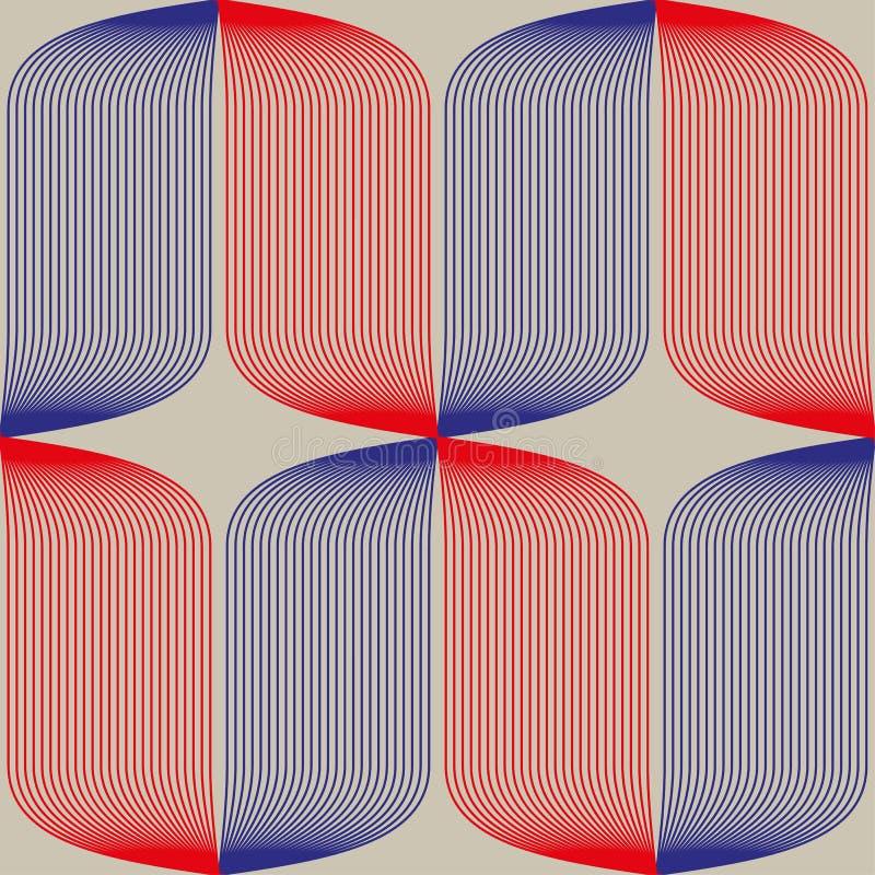 在构成主义苏维埃样式的无缝的抽象样式 传染媒介葡萄酒20s几何装饰品 向量例证