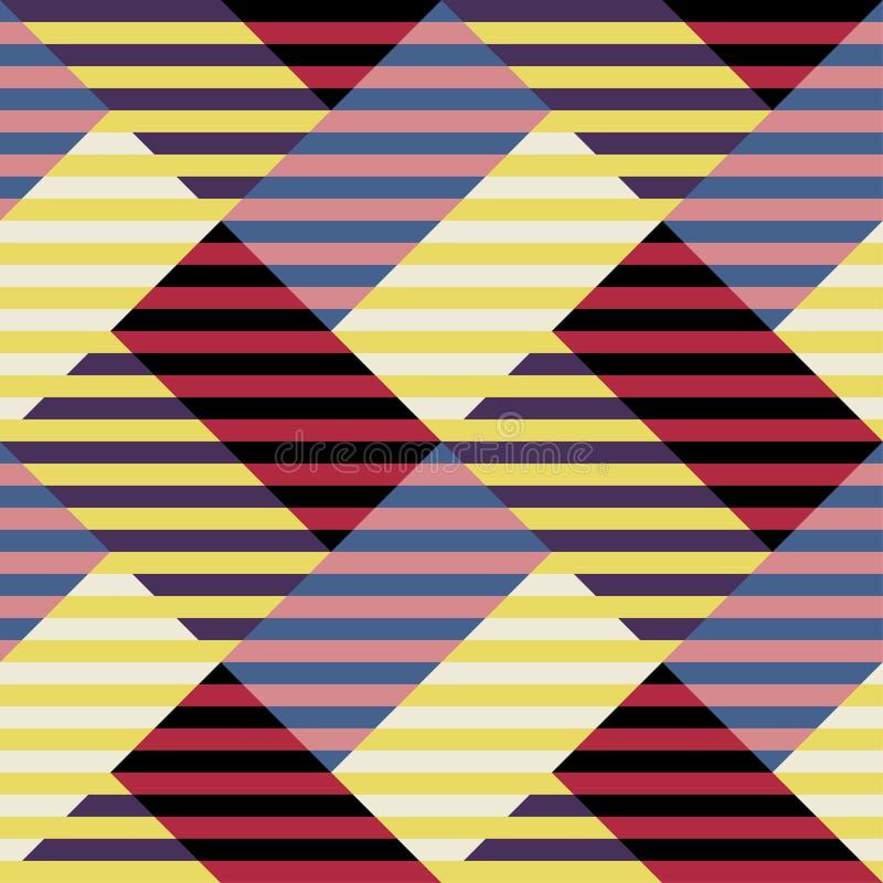 在构成主义苏维埃样式的无缝的抽象样式 传染媒介葡萄酒20s几何装饰品 皇族释放例证