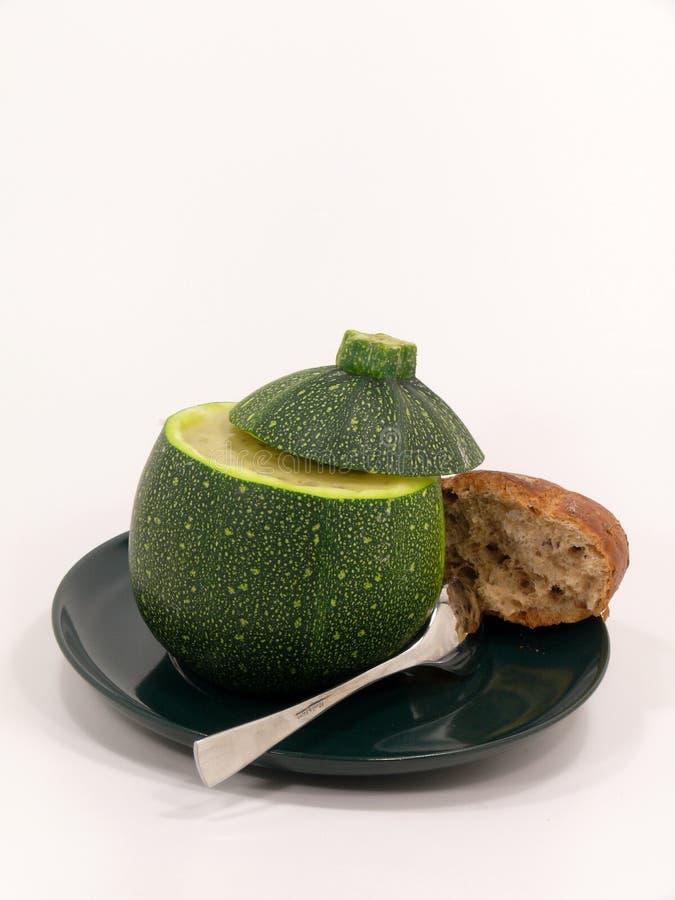 在果子的夏南瓜汤 免版税图库摄影