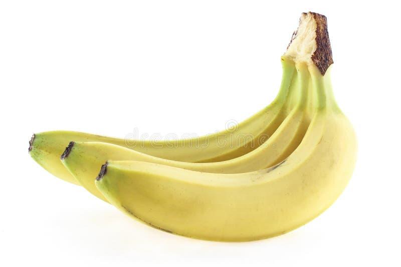 在果皮的成熟香蕉 免版税库存照片