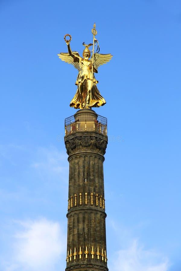 Siegessaule在柏林 免版税库存图片