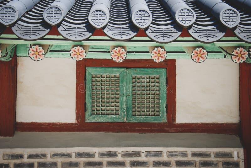在某一村庄的传统韩式建筑学,韩国 免版税库存照片