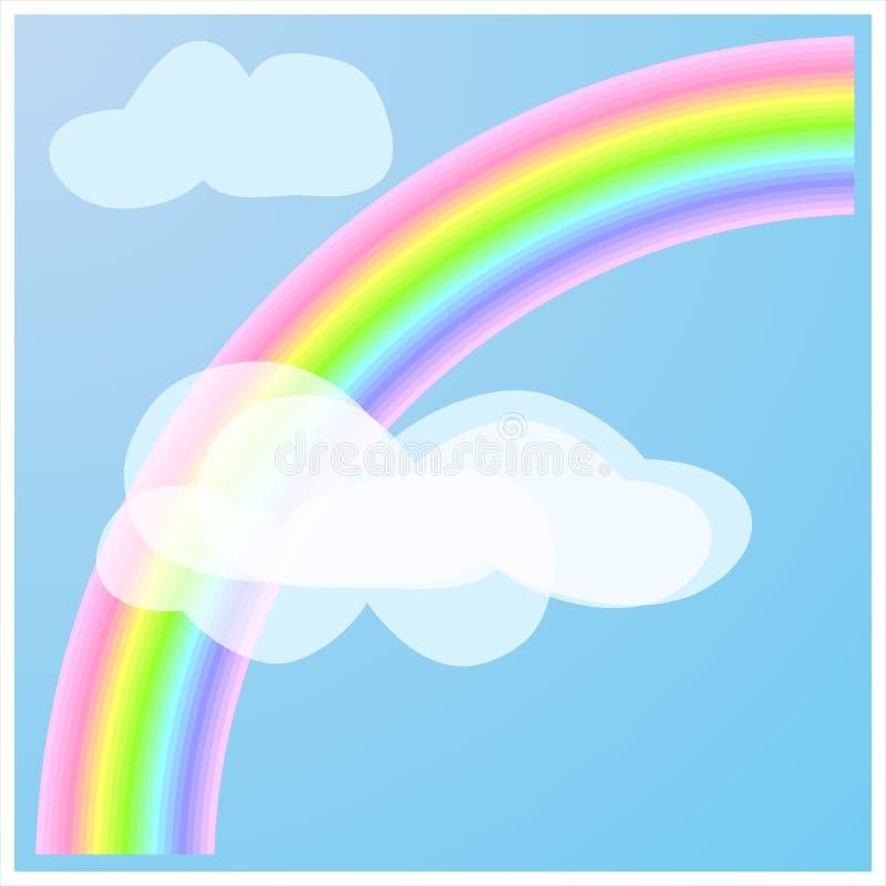 在某处彩虹 向量例证