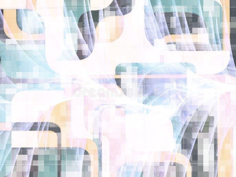 在柔和的淡色彩的两次曝光墙壁艺术 免版税库存照片