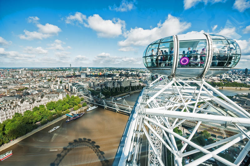 在查令十字的看法从伦敦眼 免版税库存图片