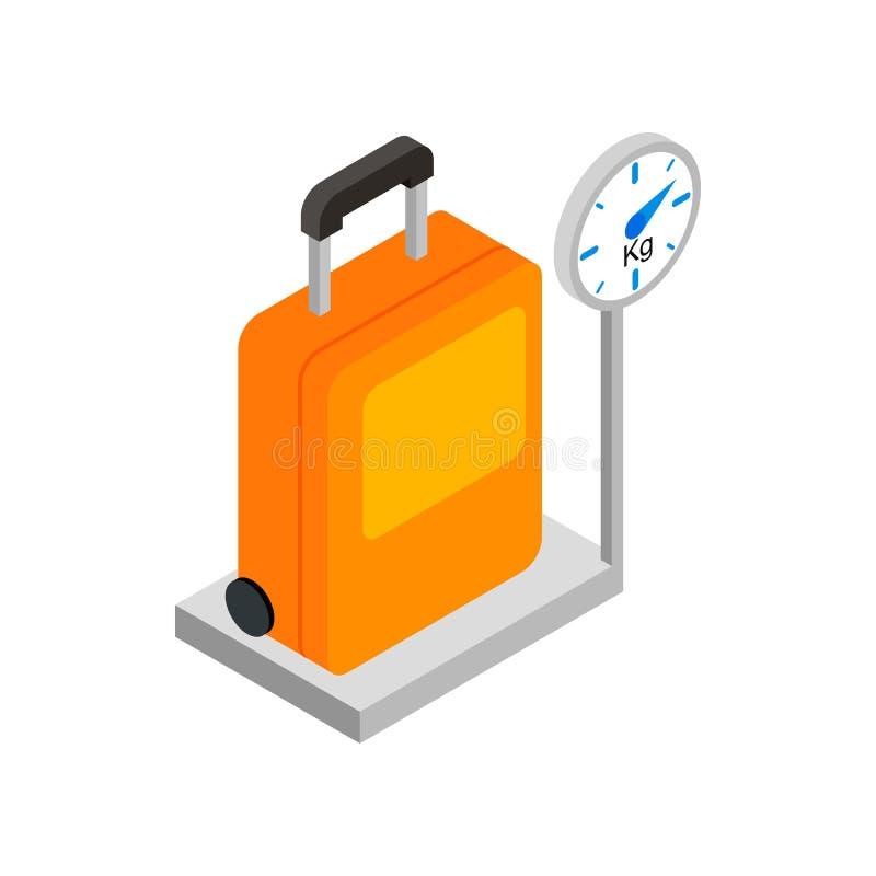 在标度3d等量象的行李 库存例证