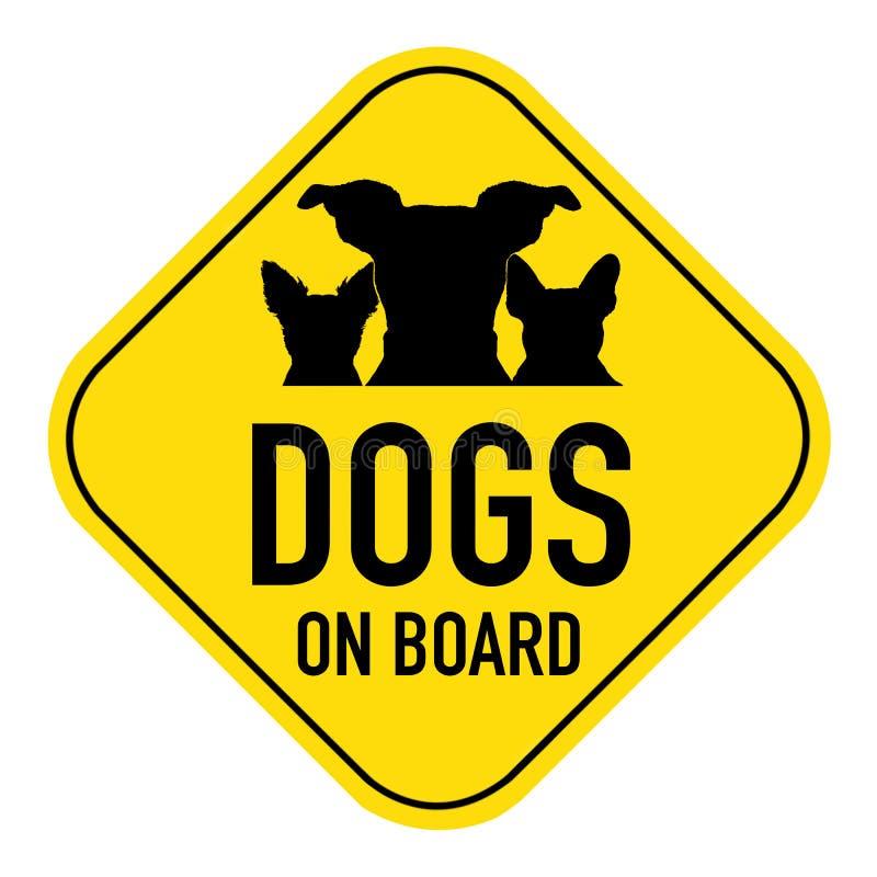 在标志上的狗 免版税库存图片