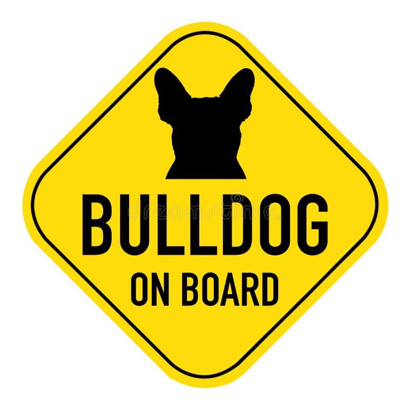在标志上的狗 免版税库存照片