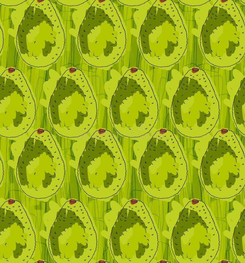 在标志掠过的背景的绿色鲕梨 向量例证