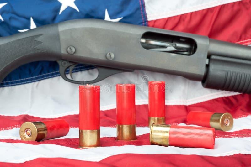 在标志的猎枪 图库摄影
