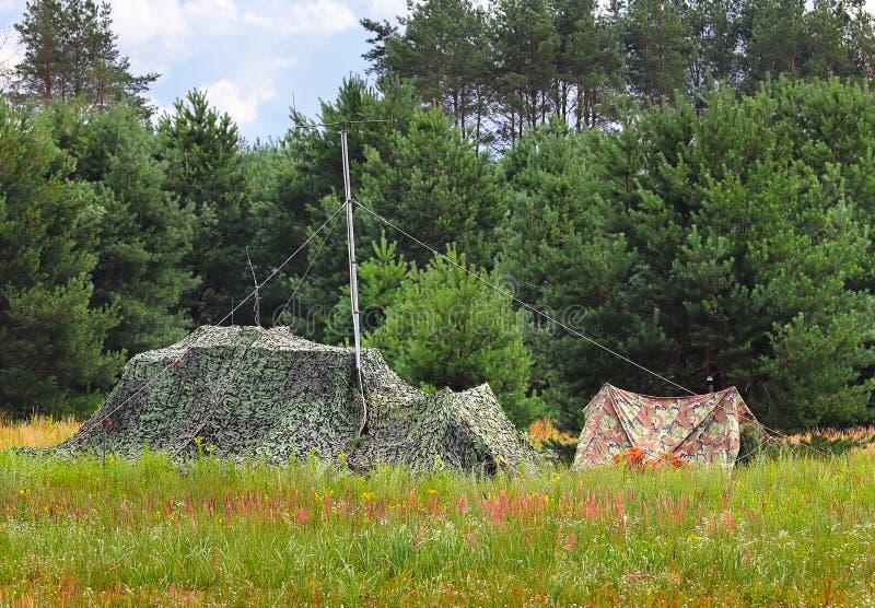 在树中的帐篷 免版税库存图片