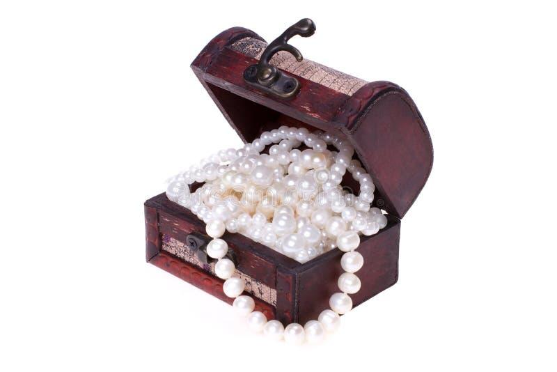 在树干的珍珠 免版税库存照片
