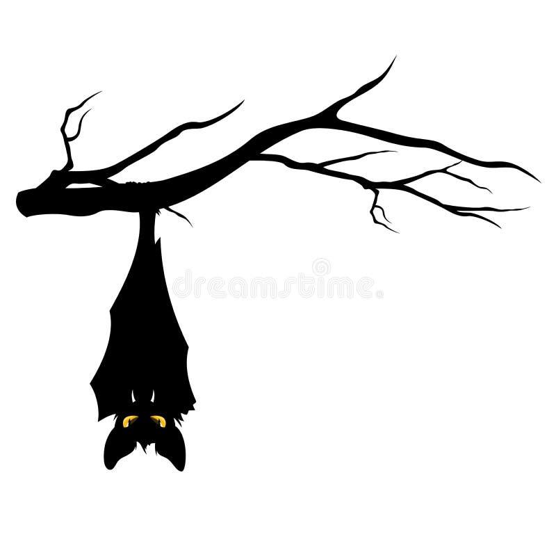 在树枝的万圣夜棒 库存例证