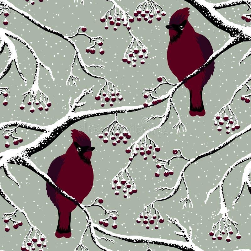 在树的主要鸟 库存例证