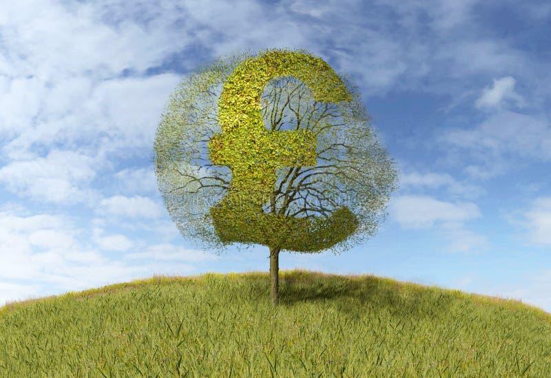 在树的磅标志 库存例证
