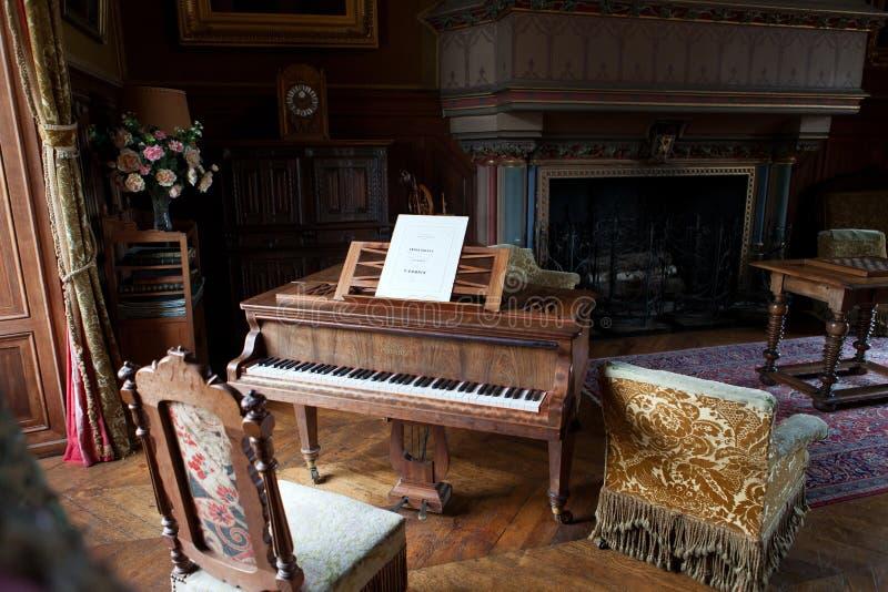 在样式城堡的Montresor被保留的房间 免版税库存图片
