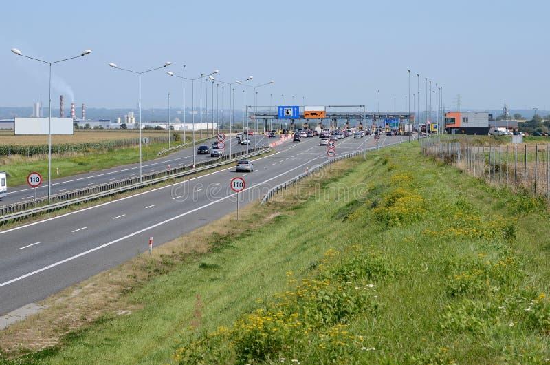 在格利维采附近的高速公路A4在波兰 库存图片