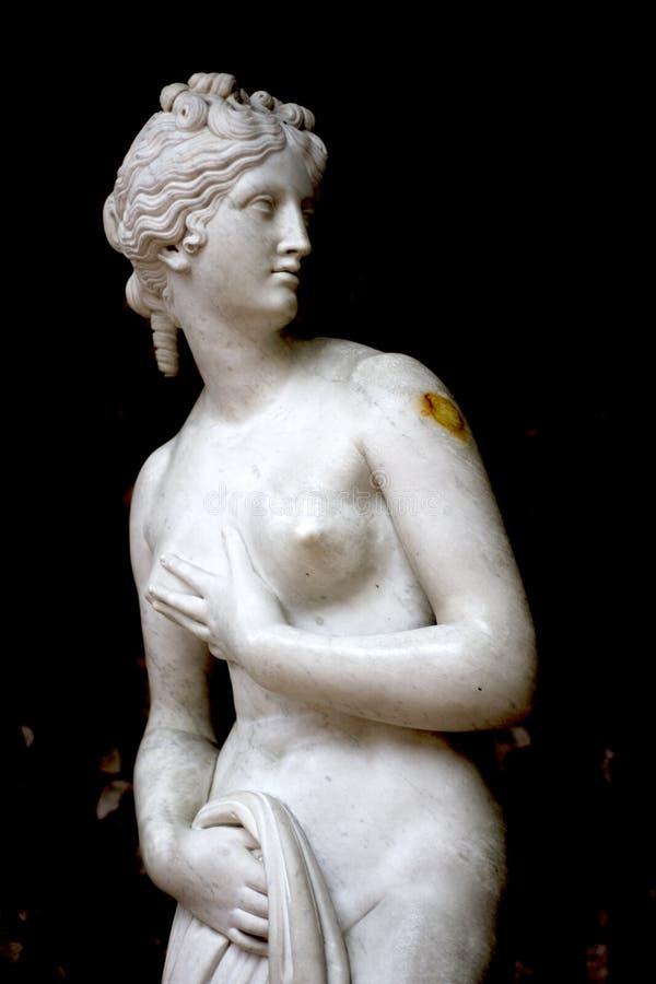 在格蒂别墅的米罗的维纳斯雕象 库存照片