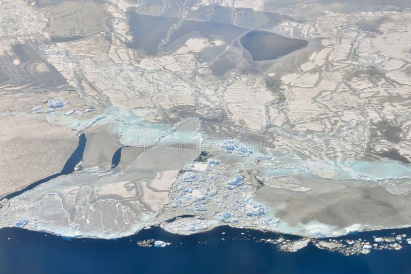 在格陵兰的熔化的冰 库存照片