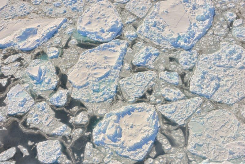 在格陵兰的熔化的冰 免版税库存照片
