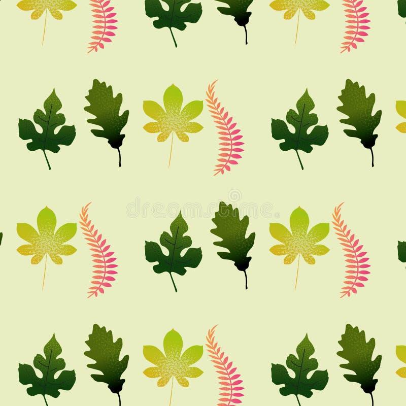 在桃红色和绿色coloures样式背景的叶子 图库摄影