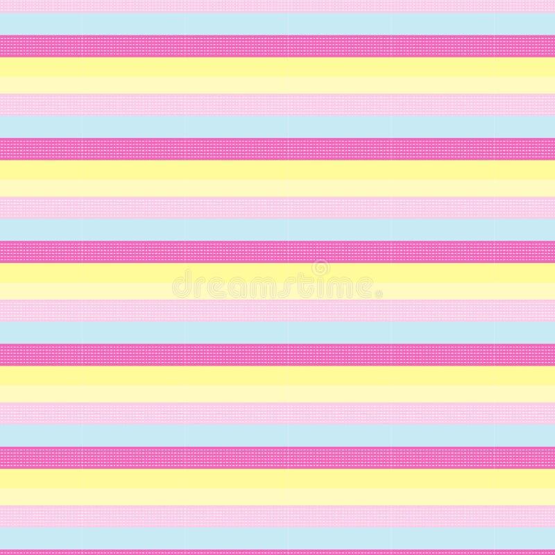 在桃红色和软的桃红色的白色虚线镶边与甜浆糊 库存例证