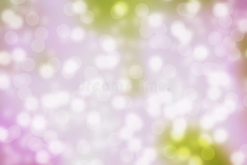 在桃红色淡色背景的Bokeh光 免版税库存图片