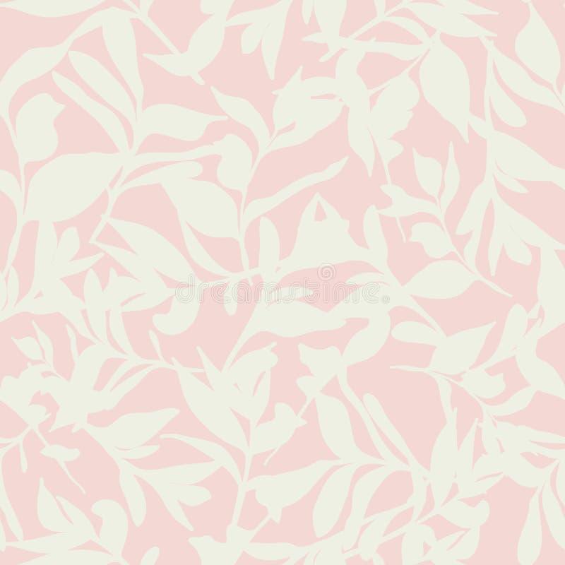在桃红色的森林地板 免版税图库摄影