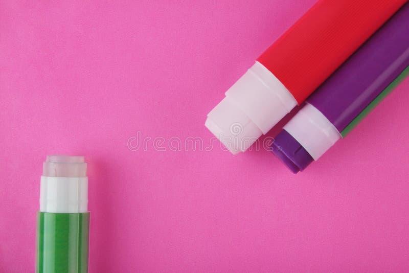 在桃红色的胶浆棍子 免版税图库摄影