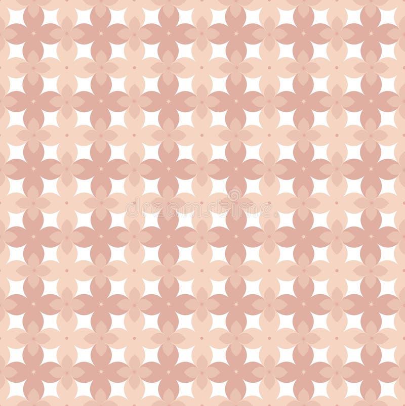 在桃红色的花卉传染媒介样式和20世纪70年代之前启发的珊瑚口气贴墙纸 向量例证
