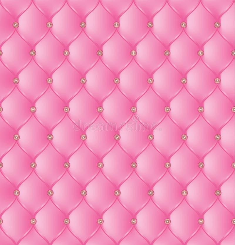 在桃红色背景的抽象室内装饰品 向量例证