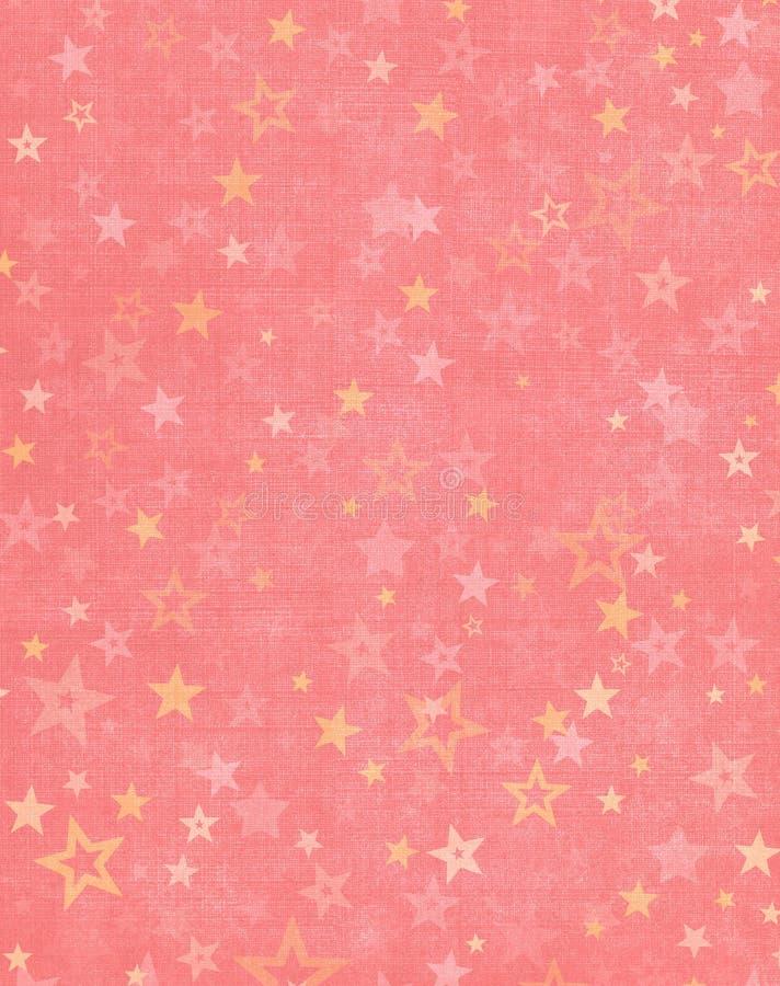在桃红色背景的星形 免版税库存照片