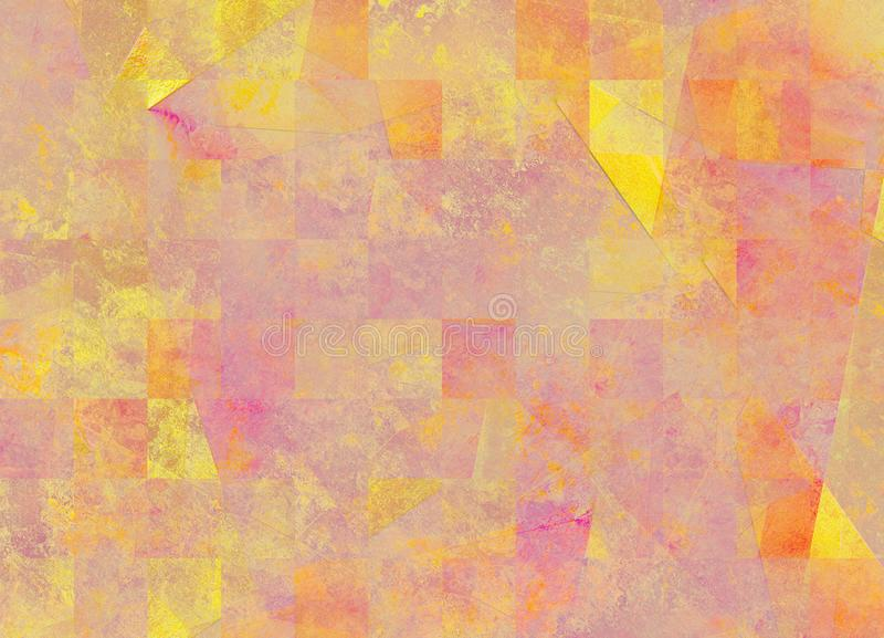 在桃红色黄色软的颜色的抽象背景 向量例证
