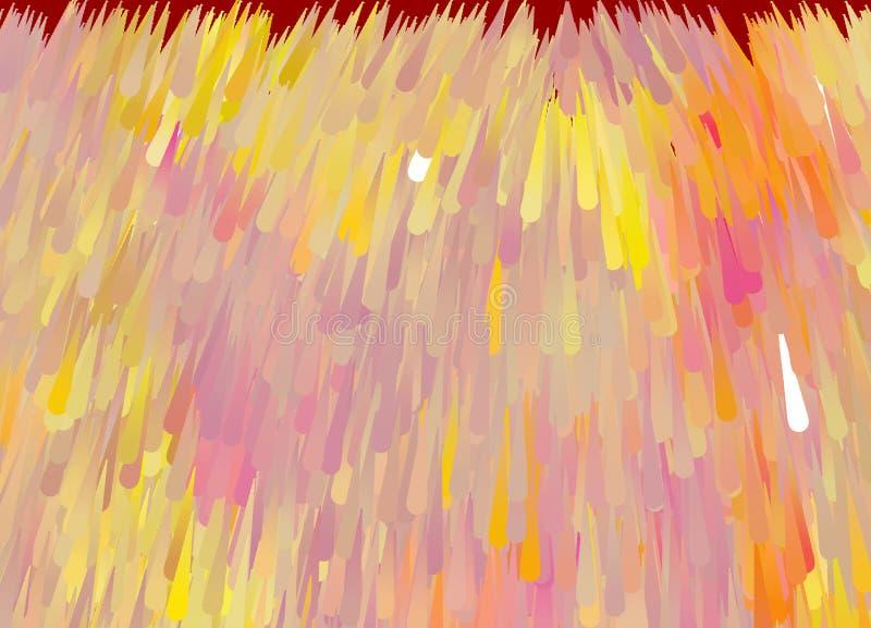 在桃红色黄色软的颜色的抽象背景 库存例证