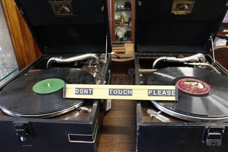 在案件的两台录音机 免版税库存图片