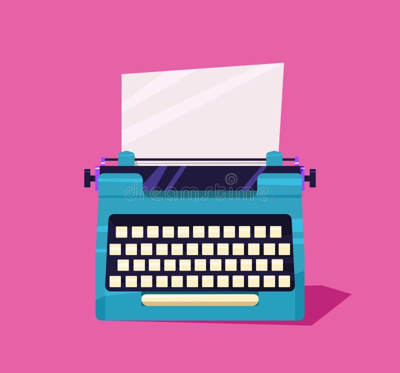 在桌上的打字机颜色 免版税库存图片
