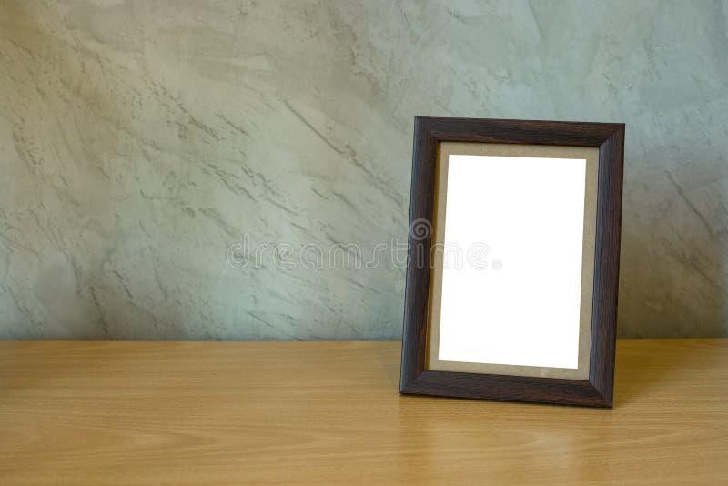 在桌上的画框 库存照片