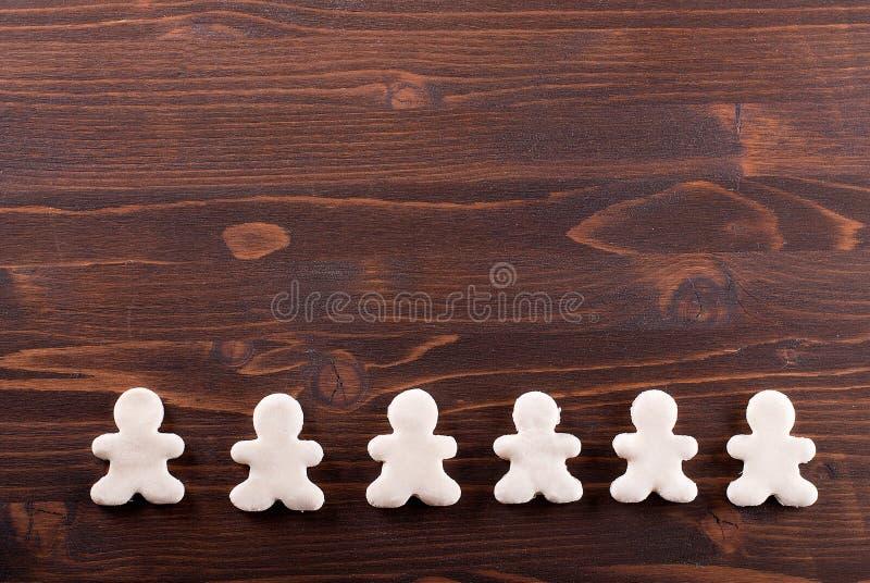 在桌上的自创曲奇饼 免版税库存图片