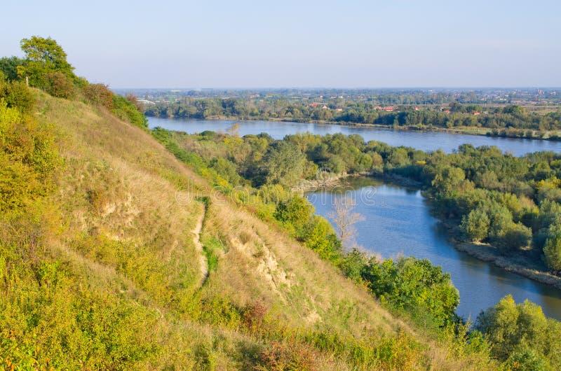 在桑多梅日,波兰附近的胡椒山 图库摄影