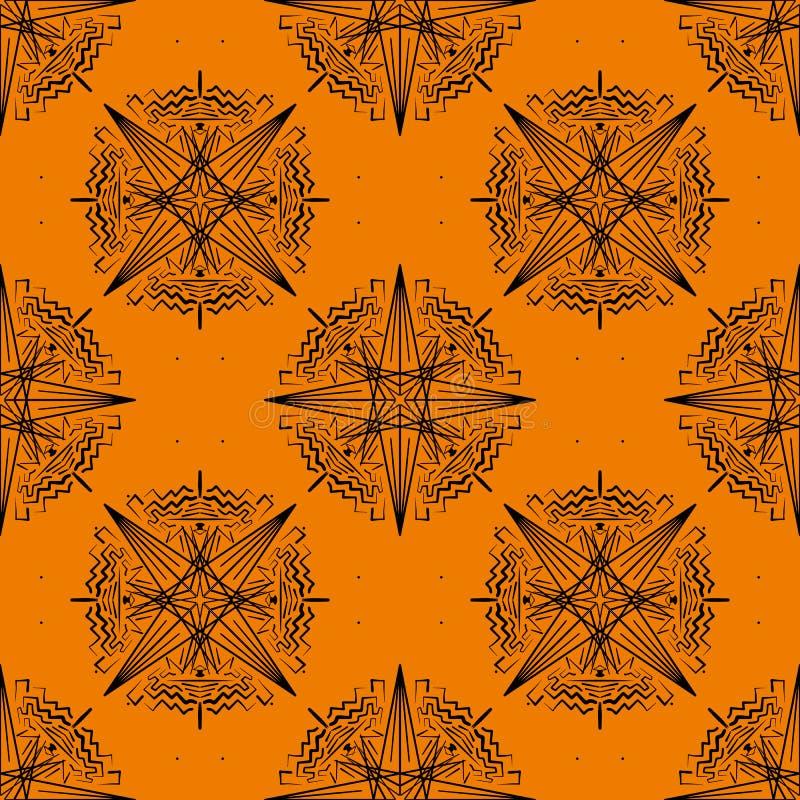 在桔子的几何无缝的样式 皇族释放例证