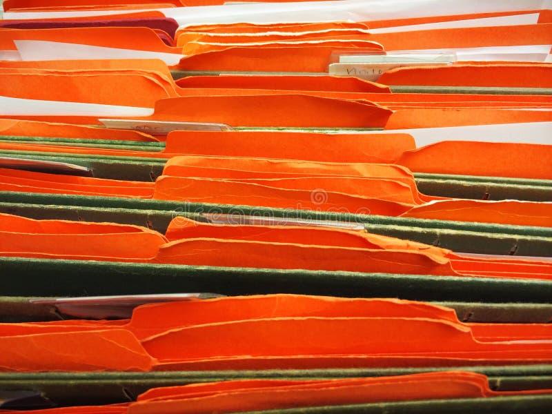 在档案橱柜的文件在工作 免版税图库摄影